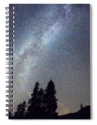 Mountain Milky Way Stary Night View Spiral Notebook