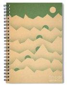 Mountain Moon Rising Spiral Notebook