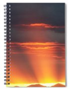 Mountain Rays Spiral Notebook