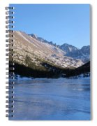 Mountain Reflection On Frozen Lake Spiral Notebook
