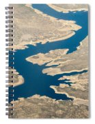 Mountain River From The Air Spiral Notebook