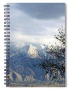 Mountain Snow Storm Spiral Notebook