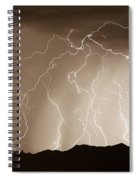 Mountain Storm - Sepia Print Spiral Notebook
