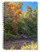 Mountain Stream In Early Autumn Spiral Notebook