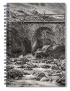Mountain Stream With Bridge Spiral Notebook