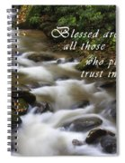 Mountain Stream With Scripture Spiral Notebook