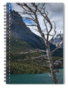 Mountain View At Glacier National Park Spiral Notebook
