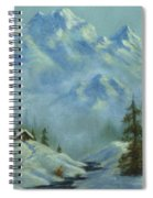 Mountain View With Creek Spiral Notebook