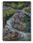 Mountain Waterfall Spiral Notebook