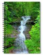 Mountain Waterfall I Spiral Notebook