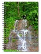 Mountain Waterfall II Spiral Notebook