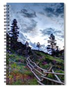 Mountain Wooden Fence  Spiral Notebook
