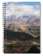 Mountains Along N9, Al Haouz Spiral Notebook
