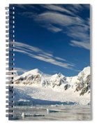 Mountains And Glaciers, Paradise Bay Spiral Notebook