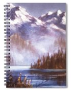 Mountains And Inlet Spiral Notebook