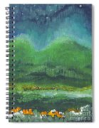 Mountains At Night Spiral Notebook