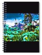Mountains Hiding Behind Flowers Spiral Notebook