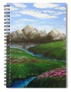 Mountains In Springtime Spiral Notebook