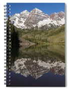 Mountains Maroon Bells 11 Spiral Notebook
