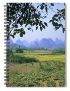 mountains near Yangshou and Guilin  Spiral Notebook