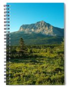 Mountains Of Many Glacier Spiral Notebook