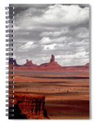 Mountains, West Coast, Monument Valley Spiral Notebook