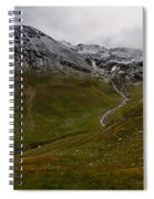 Mountainscape With Snow Spiral Notebook