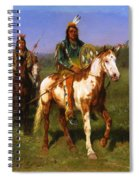 Mounted Indians Carrying Spears Spiral Notebook