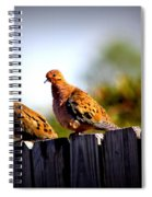 Mourning Doves On Fence Spiral Notebook