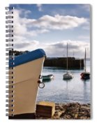 Mousehole Harbour On A May Morning Spiral Notebook