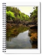 Mouth Of The Brook - Calm - Shallow Water Spiral Notebook