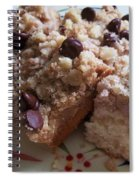 Mouthwatering Crumb Cake Spiral Notebook