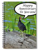 Mouthy Moorhen Anniversary Card Spiral Notebook