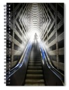 Move Into The Light Spiral Notebook