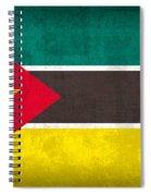 Mozambique Flag Vintage Distressed Finish Spiral Notebook