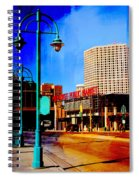 Mpm And Lamp Post Abstract Painting Spiral Notebook