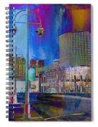 Mpm And Lamp Post Vivid Abstract Spiral Notebook