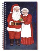 Mr And Mrs Claus Spiral Notebook