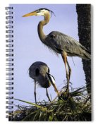 Mr. And Mrs. Heron Spiral Notebook