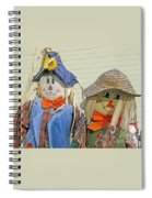 Mr And Mrs Scarecrow Spiral Notebook