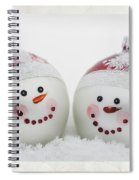 Mr. And Mrs. Snowman Spiral Notebook
