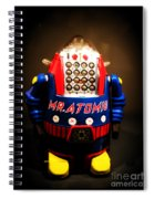 Mr. Atomic Tin Robot Spiral Notebook