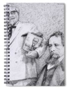 Mr Chicken And Mr Dickens Spiral Notebook
