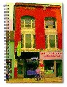 Mr Jordan Mediterranean Food Cafe Cabbagetown Restaurants Toronto Street Scene Paintings C Spandau Spiral Notebook