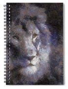 Mr Lion Photo Art 02 Spiral Notebook