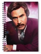 Mr. Ron Mr. Ron Burgundy From Anchorman Spiral Notebook