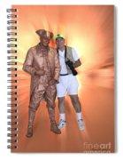 Mr Statue Spiral Notebook