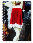 Mrs Santa Manequin Spiral Notebook