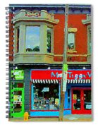 Mrs Tiggy Winkle's Toy Shop And Lost Marbles Richmond Rd The Glebe Paintings Ottawa Scenes C Spandau Spiral Notebook