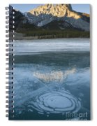 Mt. Abraham And Ice On Abraham Lake Spiral Notebook